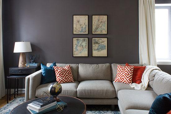 公寓欧式沙发背景