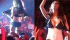 日本女星舞台自扒上衣