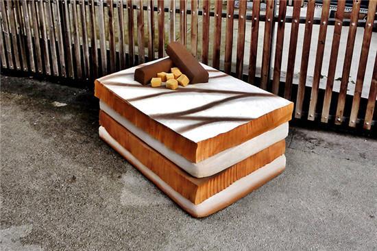 """看看这些床垫做的""""街边食物"""""""