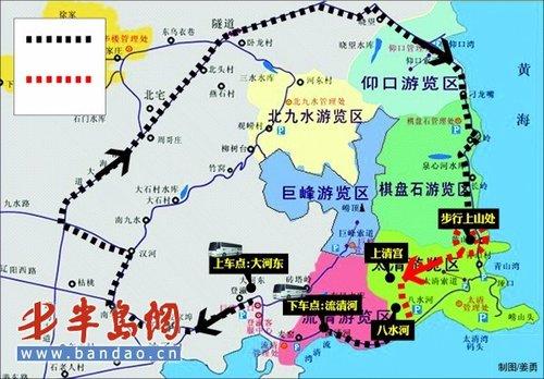 崂山风景区地图图片展示