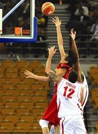 中国男篮20胜黎巴嫩 今晚半决赛战韩国(图)