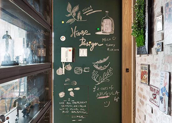 diy打造居家黑板涂鸦墙 15个案例精图细化