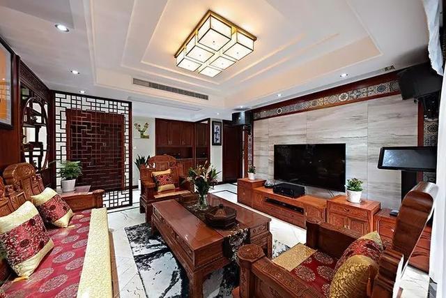 中式电视墙,真漂亮!