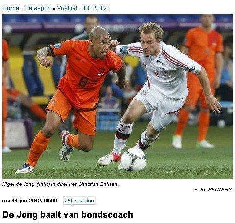荷兰队内讧_荷兰式内讧! 曼城铁腰不满被换范队竟遭质疑
