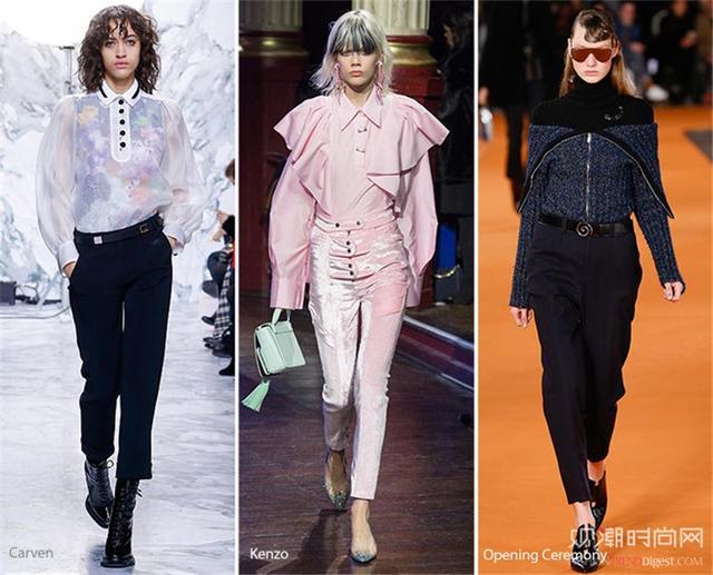 2016-2017秋冬女装流行趋势-今夏五款高腰裤穿搭 时髦又显高