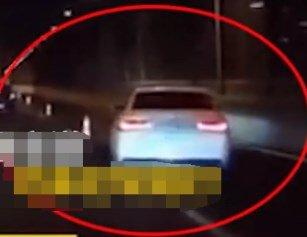 武汉一桥面上现诡异奥迪车 后方车主看了心惊