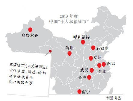 中国十大幸福城市数据公布 武汉排名第二