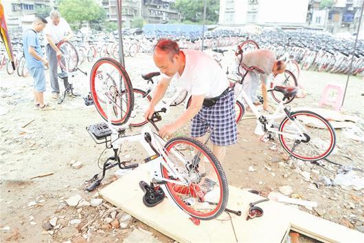 宜昌出现共享单车保姆 日均维修受损单车60辆