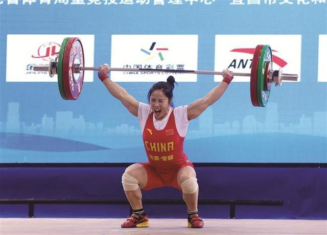 宜昌姑娘周俊获全国女子举重锦标赛55公斤级亚军