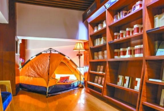 武汉部分图书场馆提供夜宿服务 体验和书睡一起