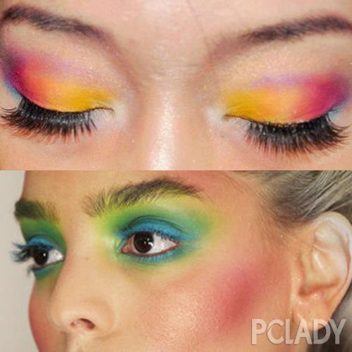 在这边就总结几个画彩虹眼妆比较重要的点给到大家.图片