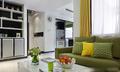 利用绿意盎然轻快色调 88平现代简约清新居室