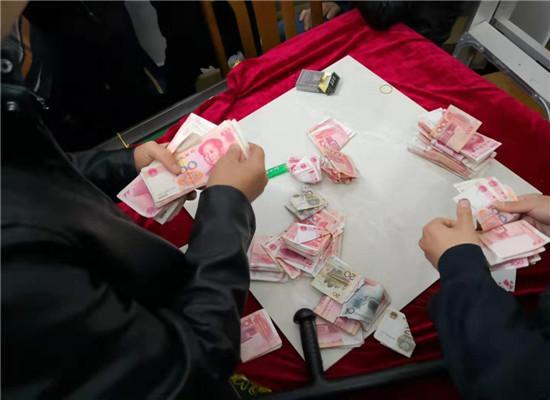 黄石一地警方捣毁赌博窝点 抓获19名涉赌人员