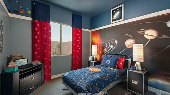 与另一个地球相遇 打造星空主题儿童房图片