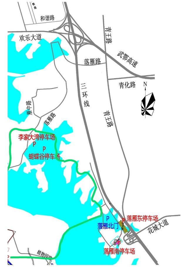 (东湖绿道东门户停车线路图)-东湖绿道连续6个周末爆满 交警紧急发图片