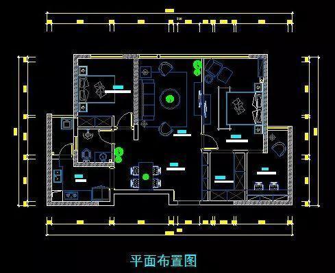 90㎡现代三房,搭配活力色彩!
