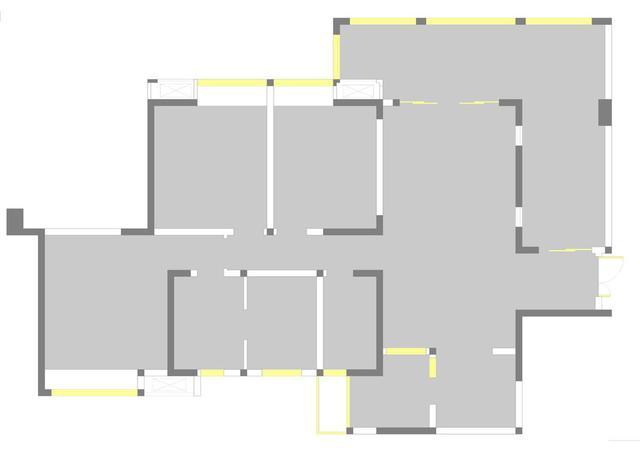 原始户型(一层),整个房子的户型结构还是比较合理的,每个空间的比例