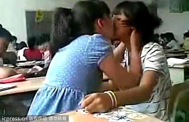 女中学生课堂激吻 教育频道 今日关注
