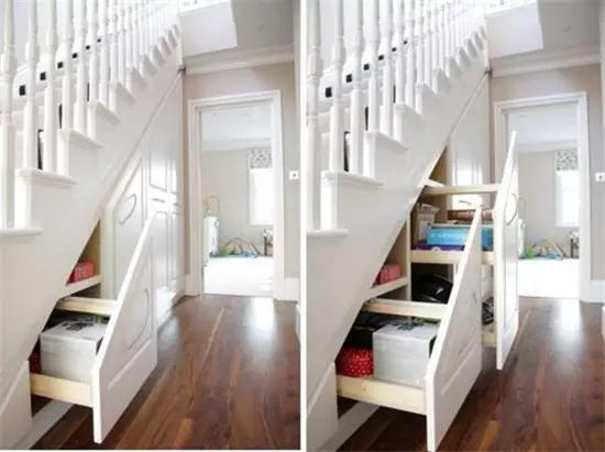 家里楼梯下的空间 这样用才不会浪费!