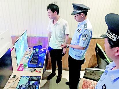 樊城区多部门联合突查网吧 少数网吧仍违规
