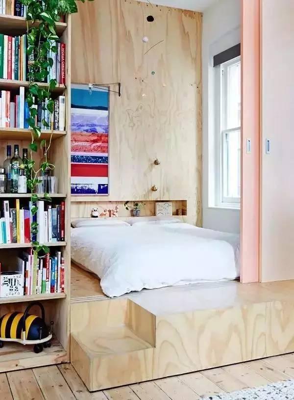 地台床其实非常节省空间的,很适合小卧室.图片