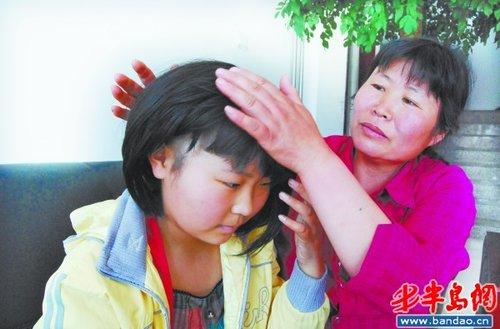 """""""当天孟庆香就带着孩子到了青岛青医附院,确诊为急性粒细胞白血病,"""""""