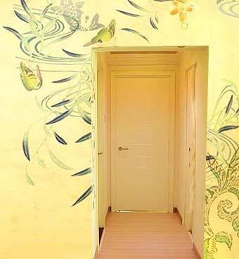 """手绘背景墙装修效果图 客厅""""永不单调"""""""