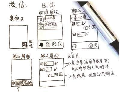 女大学生手绘说明书教奶奶玩智能手机 网友点赞