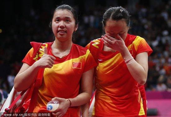 赵芸蕾含泪接受采访 如释重负女双夺冠更开心