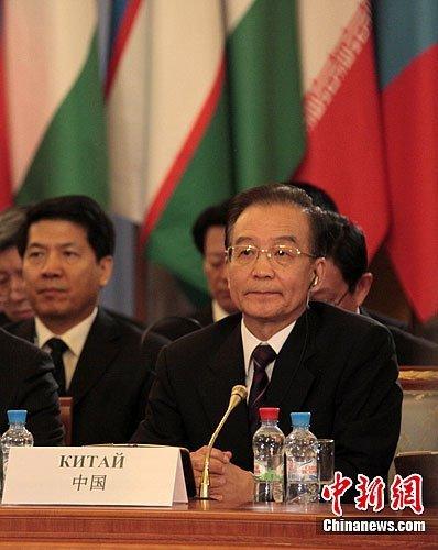 温家宝出席上合总理会议 9点建议加强务实合作