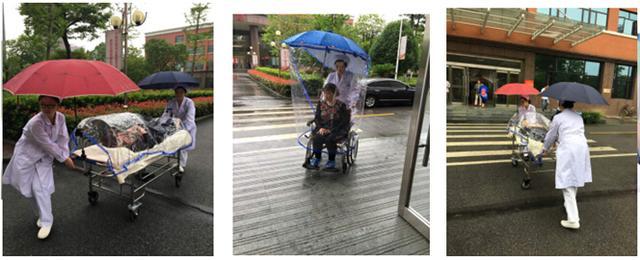 """武汉持续暴雨 汉口医院""""防雨神器""""呵护患者"""
