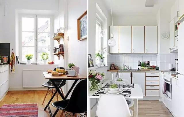 用餐远眺窗外,心情都会很美好~   在一些有小角落空余的小厨房可以装图片