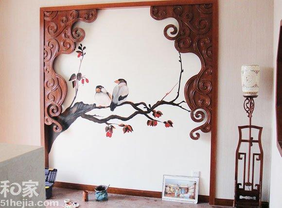 简易手绘墙面画