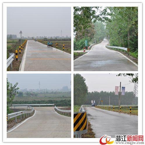 潜江农村公路安全生命防护工程建设稳步推进