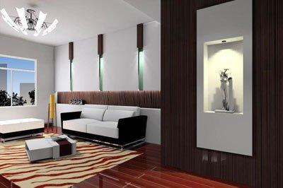 不同于欧式风格电视背景墙的现代风格也有自己的特色.