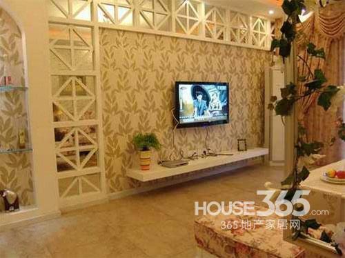 家居电视墙效果图 欧式田园风格装修浪漫气质