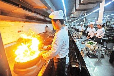 厨师炒菜图片
