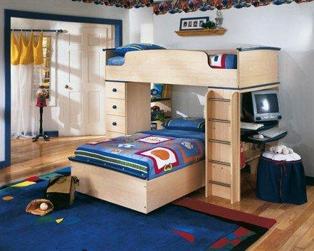 儿童房书桌衣柜组合哪种好