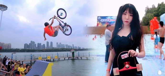 """花样""""东湖跳""""成武汉印记 18岁美少女玩转成年仪式"""