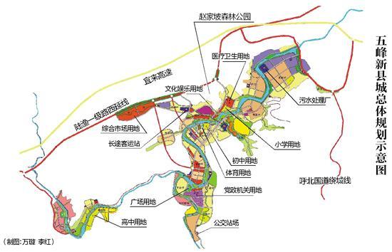 湖北片区规划总平面图