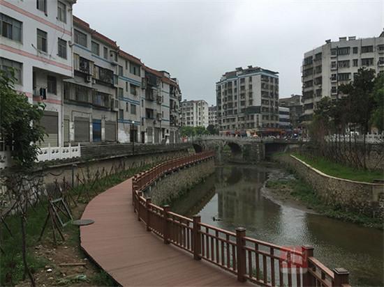 竹皮河景观工程本月完工 沿河景观初步呈现