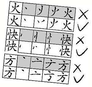 据称国家语委会对个别汉字书写笔顺作调整