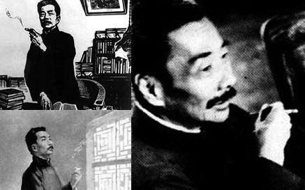 孕产手册 健康护理 亲子学堂 访谈  鲁迅先生,他的很多画像都是嘴里含