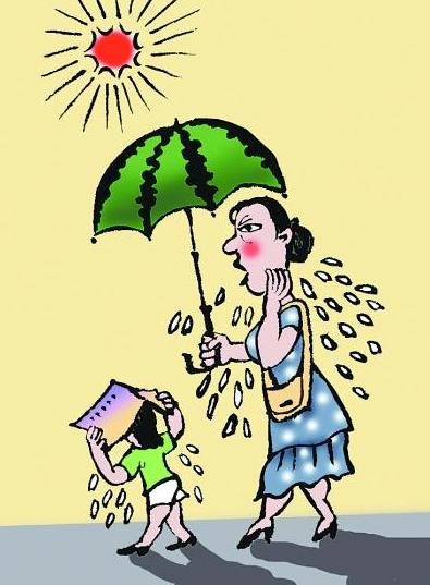 """所以夏季要特别注意防暑降温,特别是老年人,以免造成中暑及""""热射病""""等图片"""