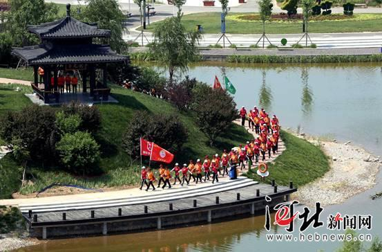 喜庆七一 衡水市举办首届花样队列会操表演