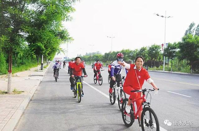 衡水市百余车友骑行倡导低碳生活