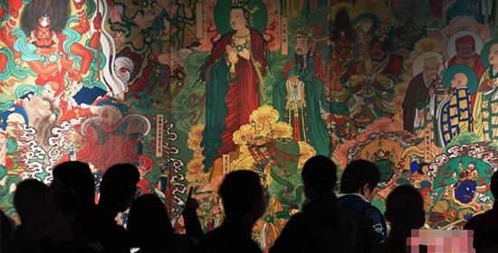 河北:画家十年复原的毗卢寺壁画亮相