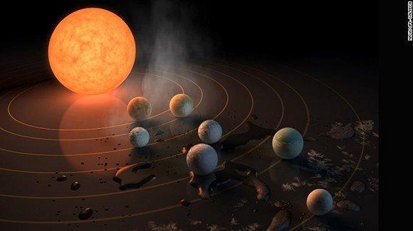 NASA宣布重大发现:首次找到7个类地球行星 其