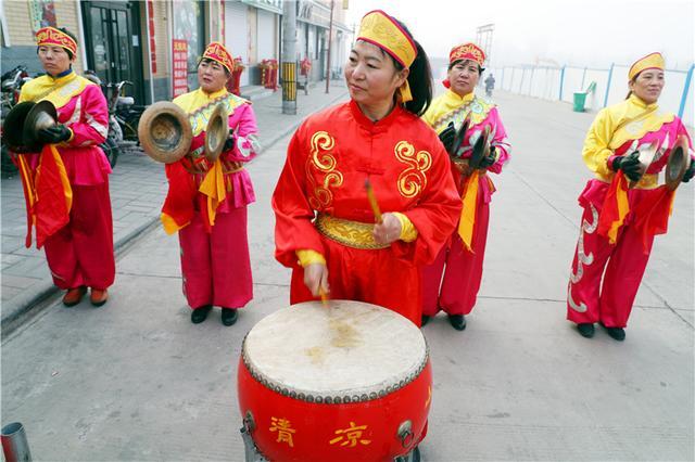 石家庄:鼓乐演出迎新年