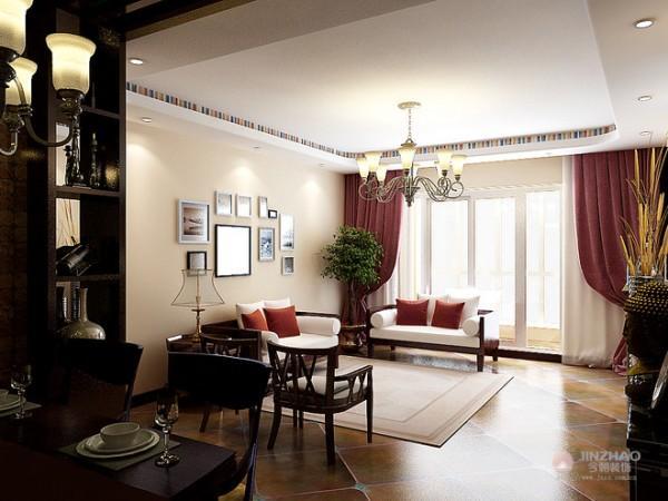 融合了复古与现代元素的时尚婚房
